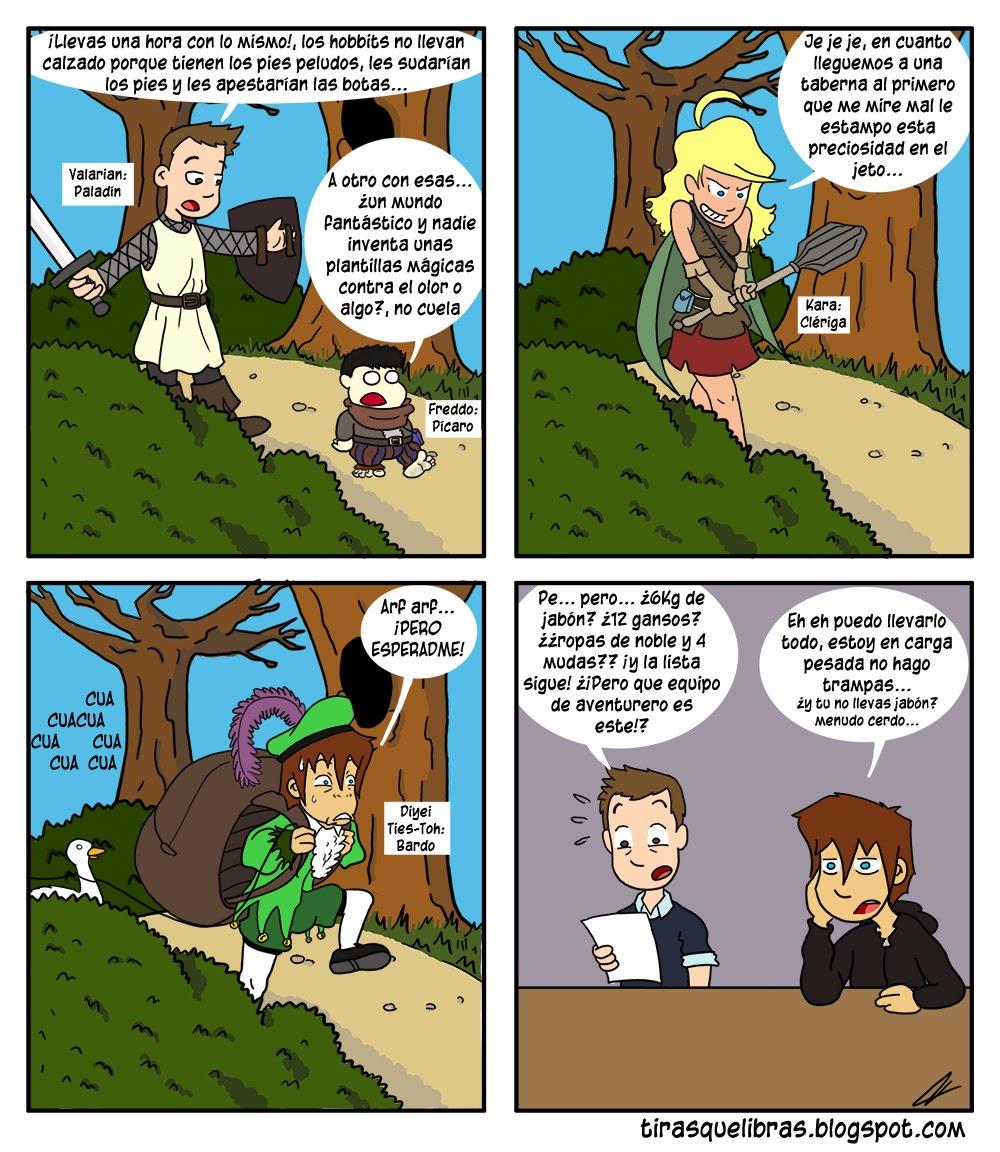 webcomic ye lo que hay, los chicos empiezan su primera partida