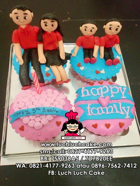 Cupcake Tema Keluarga (REPEAT ORDER)