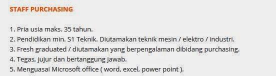 lowongan kerja pt motasa indonesia 2014