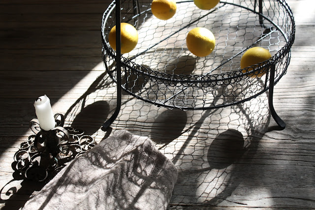 lemons and shadows, photograph by LeAnn for linenandlavender.net