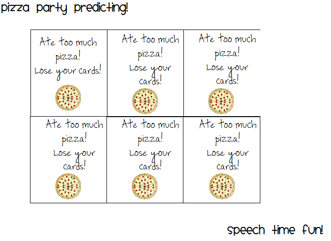 Pizza Predicting Party – Predicting Outcomes Worksheets