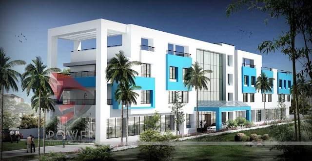 3d Architecture Rendering Of Hotel, 3d Architectural Animation