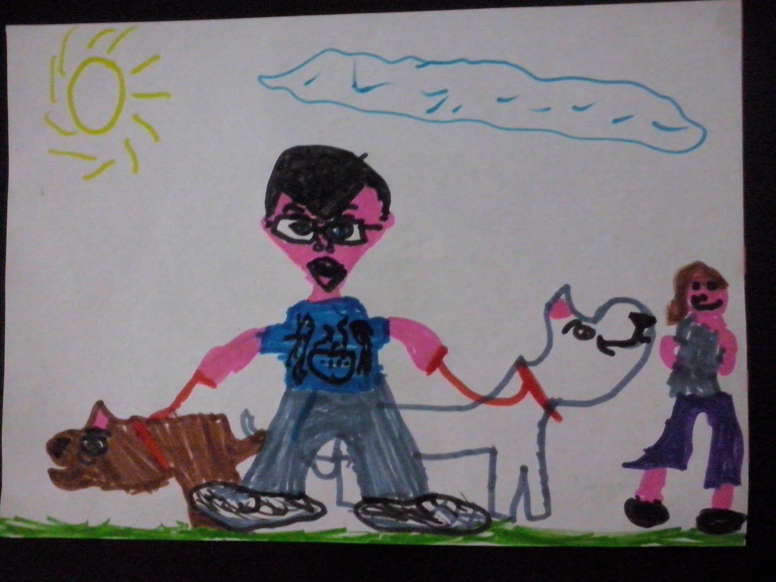 Minha família por Bianca (7 anos)