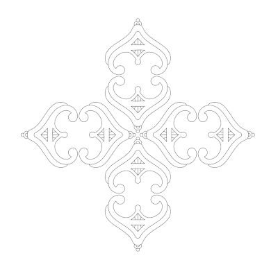 tiara cross free hand embroidery pattern