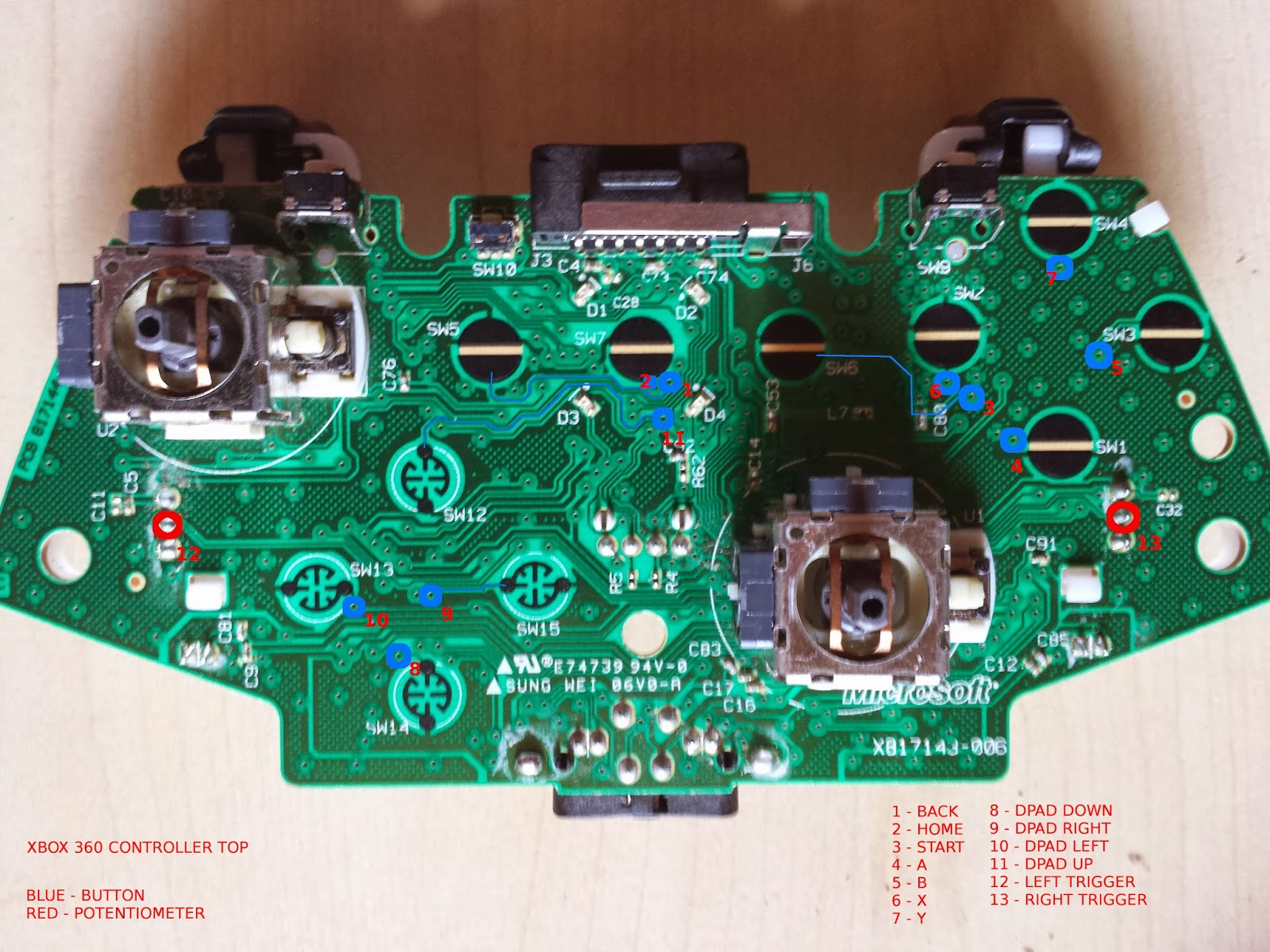 Xbox 360 Controller Wiring - Electrical Drawing Wiring Diagram •