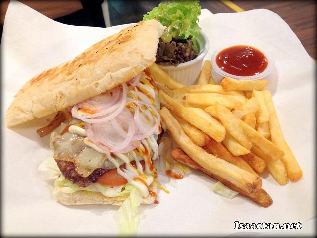 Mushroom Melt Burger - RM32