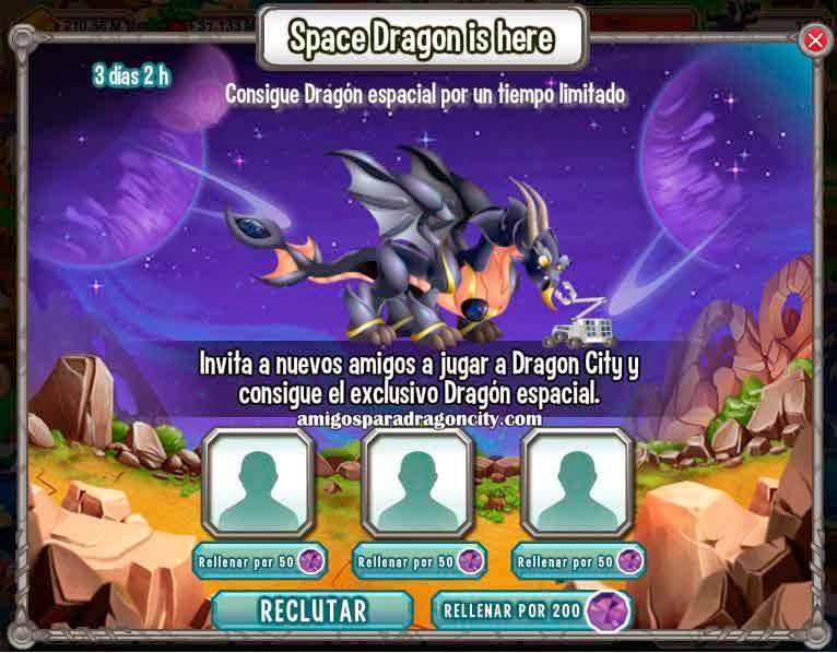 imagen del dragon espacial gratis de dragon city