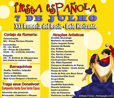 festa espanhola em Belo Horizonte