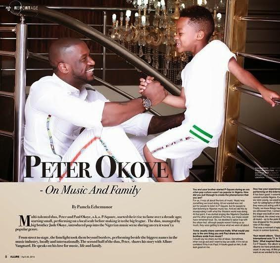Peter Okoye & Son Covers Vanguard Allure's Latest Issue