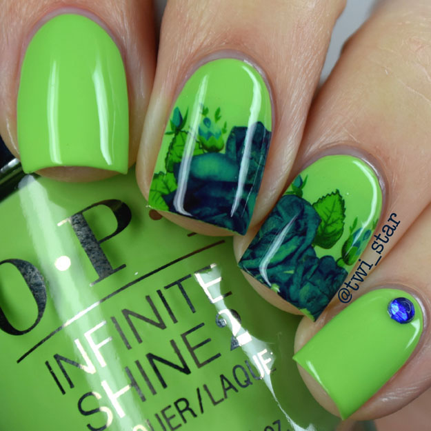 OPI Infinite Shine To The Finish Lime polish swatch