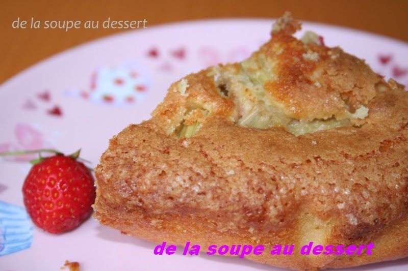de la soupe au dessert gateau au yaourt de brebis 224 la rhubarbe