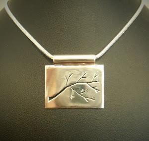 Sterling Silver Pierced Branch Pendant