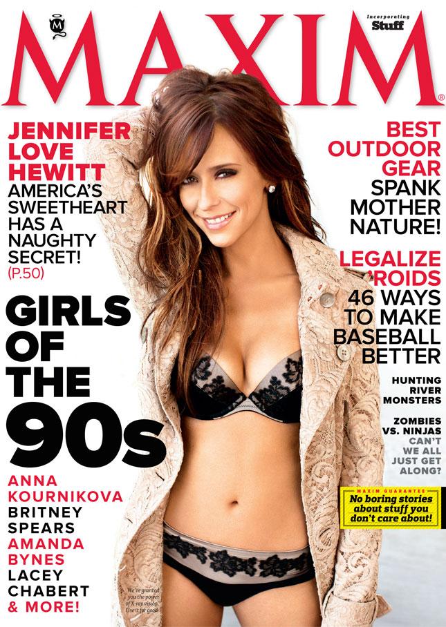 "Jennifer Love Hewitt Covers Maxim's ""Girls of the 90s"" Issue!!"