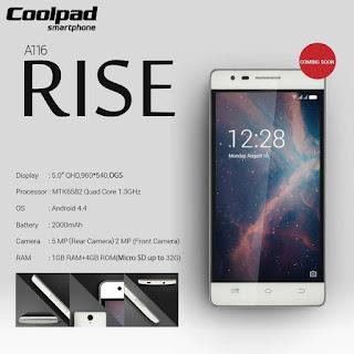 Coolpad Indonesia Hadirkan Ponsel 4G LTE Murah, Coolpad Rise