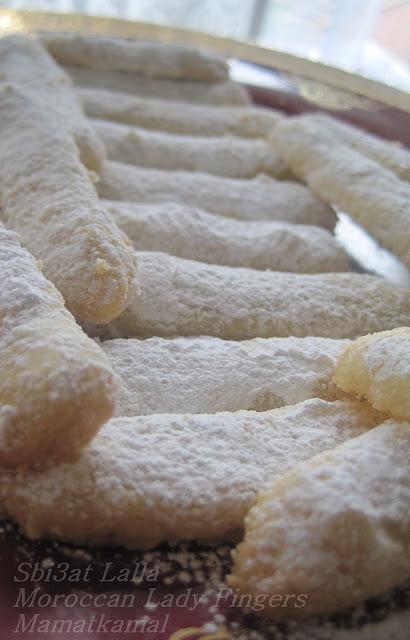 حلويات مغربية من بلد المملكة المغربية - Moroccan Lady Fingers, Doigts de Madame -Sbi3at Lalla