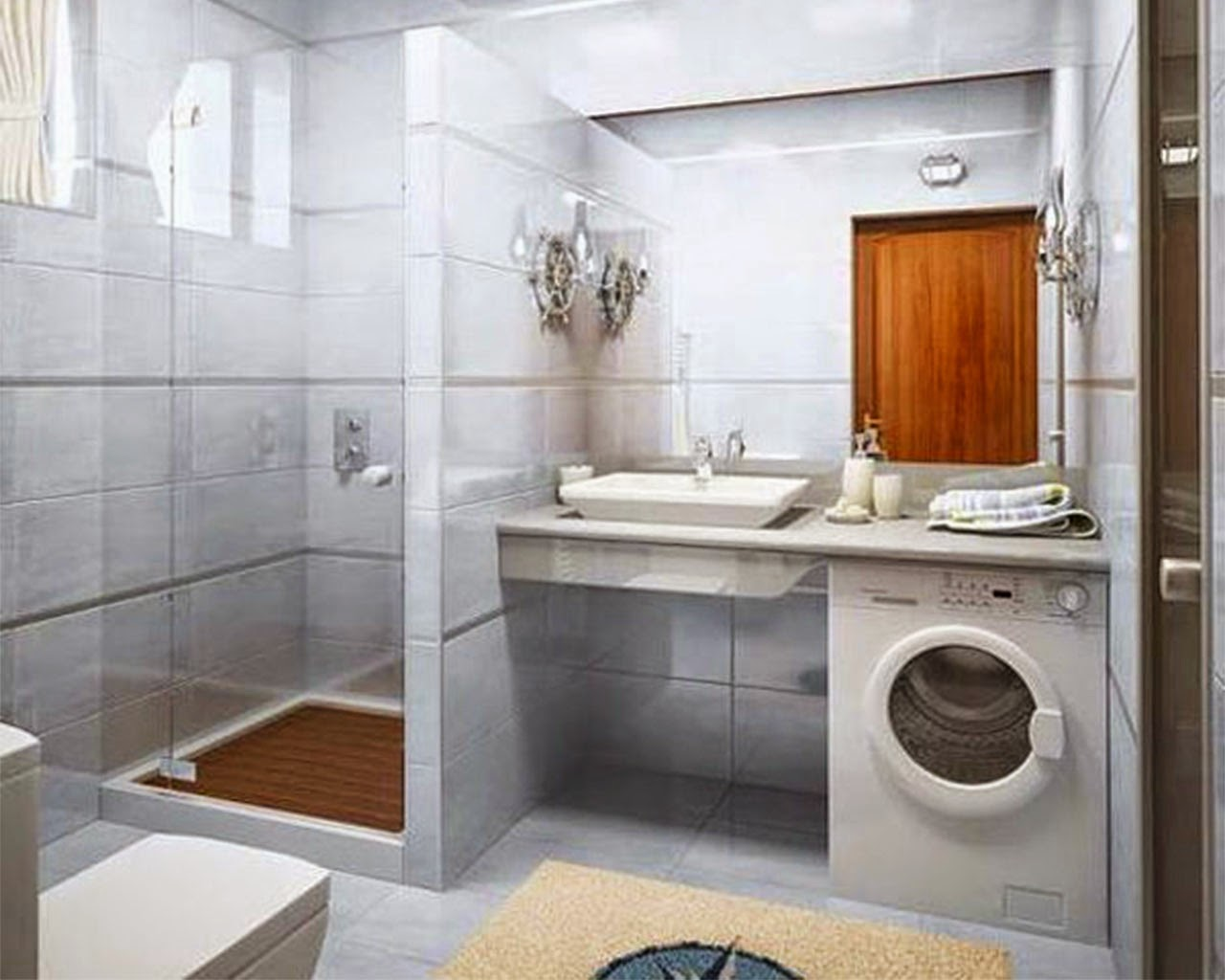 Featuring Best Solution Small Bathroom With Minimalis Innovation Concept To O