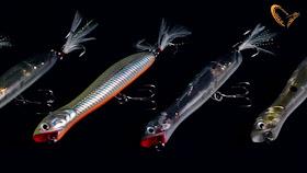 Nouveauté 2015 Leurre BAIT BALL 3 poissons POPPER dos gris pêche