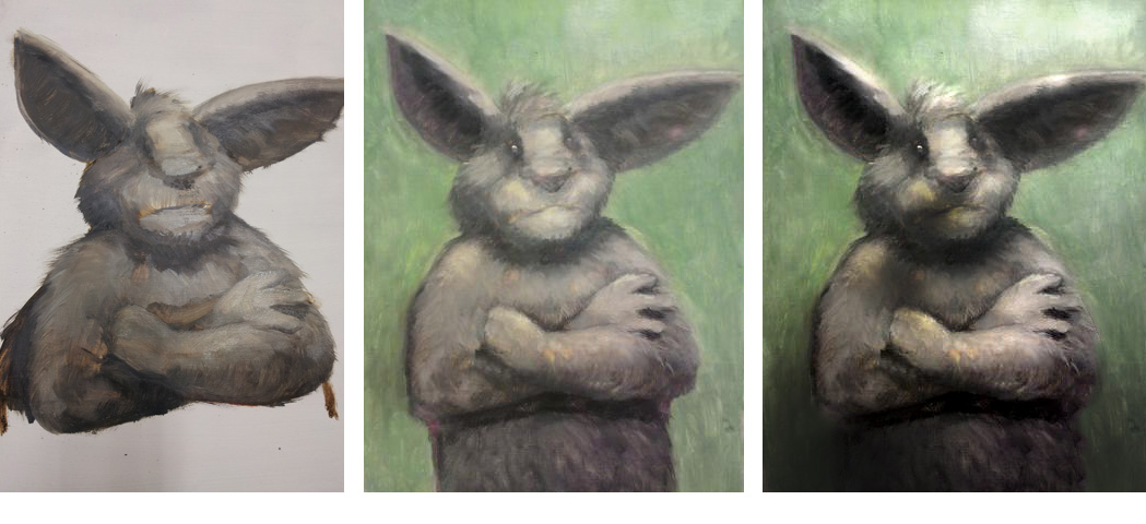 Ölportrait, bunny,rabbit