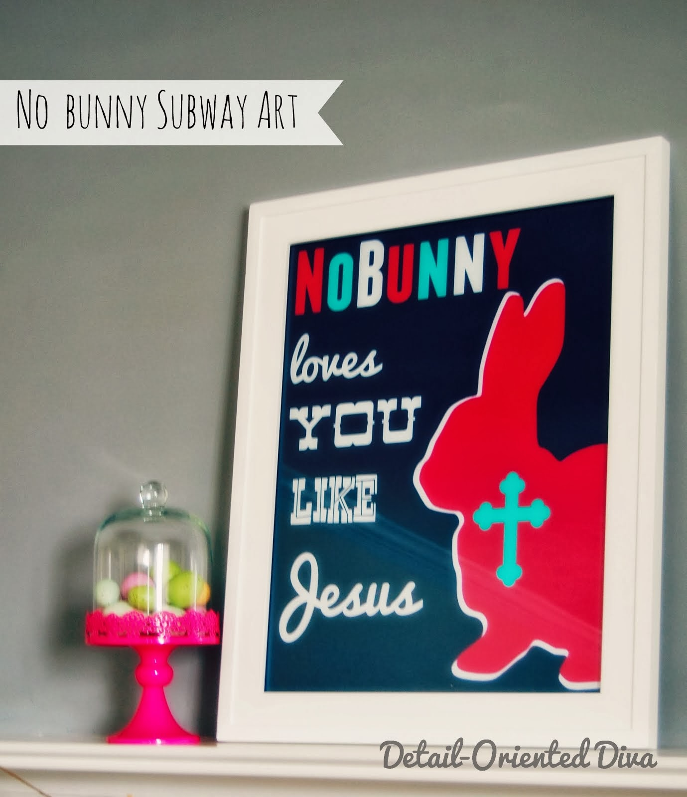 No Bunny Subway Art