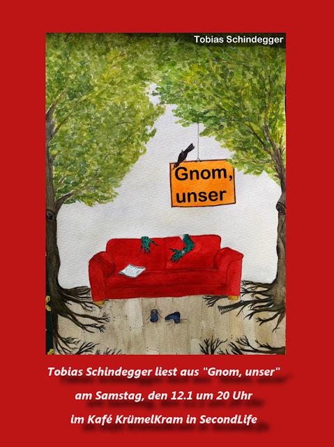 Lesung im Café KrümelKram in Second Life