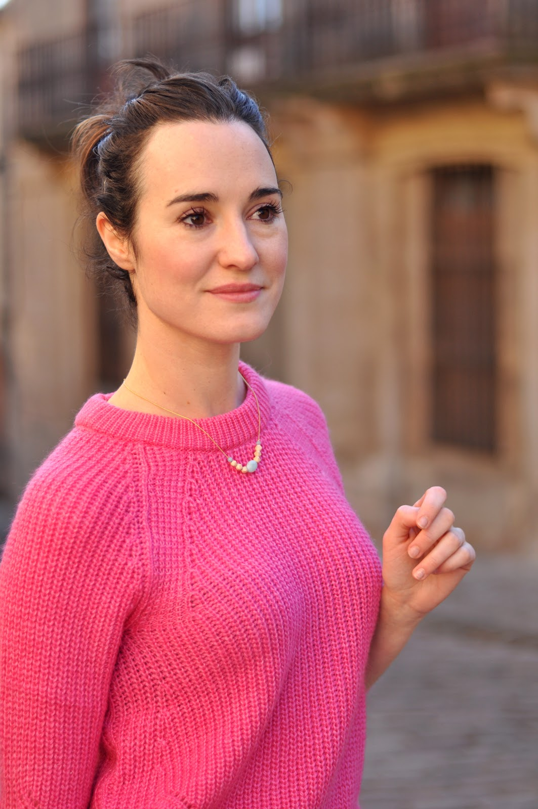 bubble pink jumper look