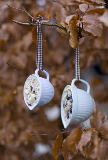 These hanging teacup bird feeders will attract flying friends to your yard