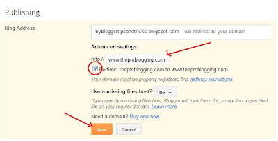Succefully Added Custom Domain To Blogger