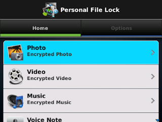 Personal File Locker v1.0.1 BlackBerry