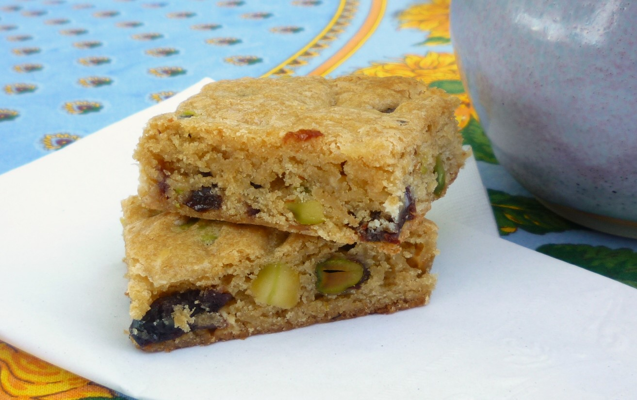 pistachio chocolate chip blondies are one of my pistachios chocolate ...