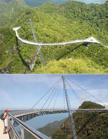 Sky Bridge, Langkawi Island, malaysia, spectacular bridge, long curved bridge