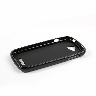 TPU Jelly Case with Matte Back Side for Lenovo A706 - Black
