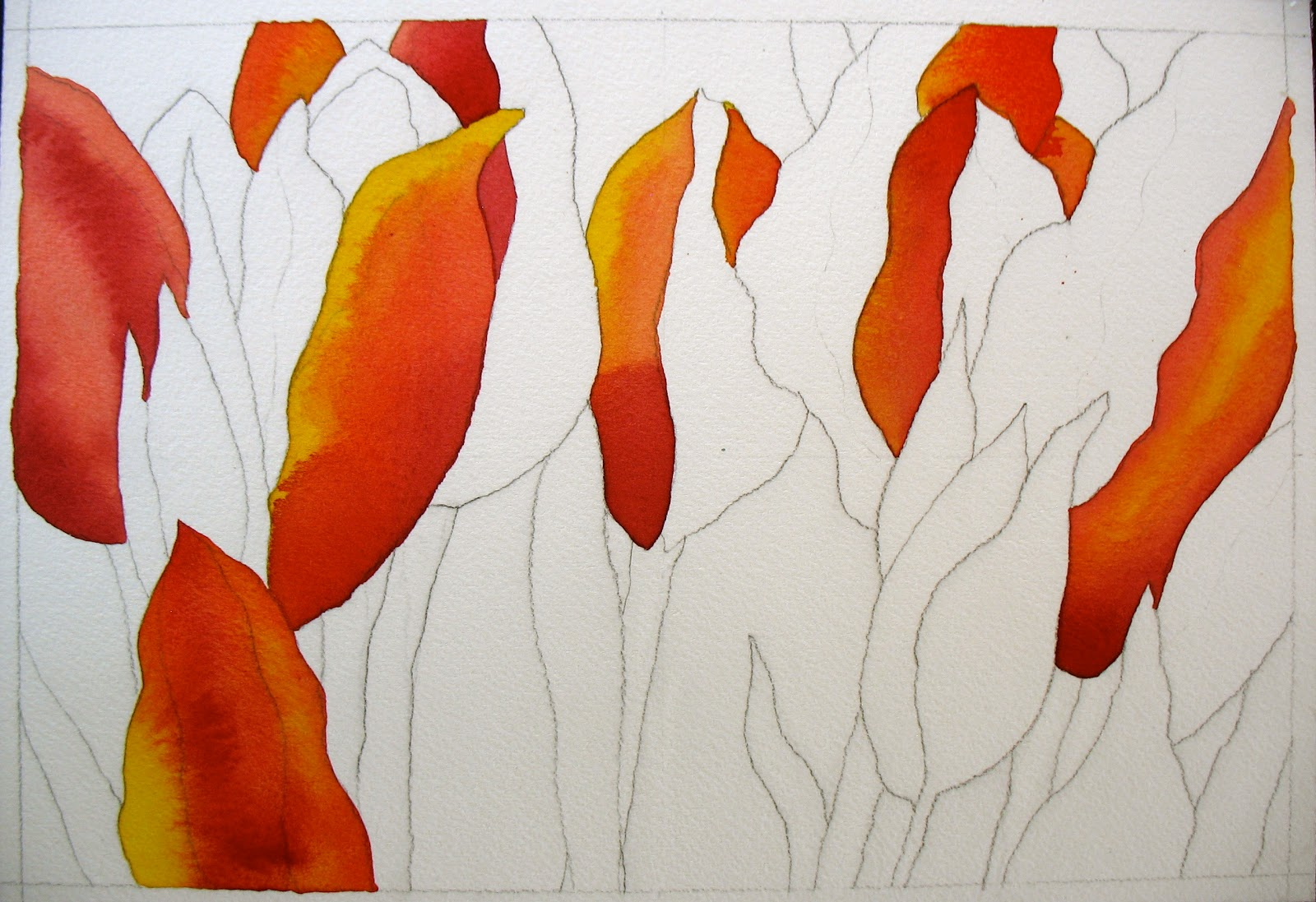 The painted prism watercolor project step by step red for Watercolor painting step by step