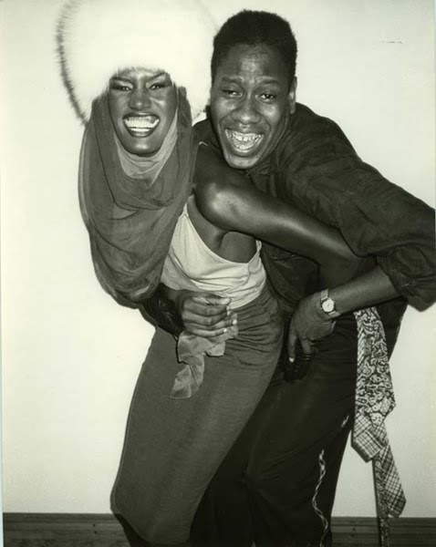 Grace Jones and Andr Leon Talley