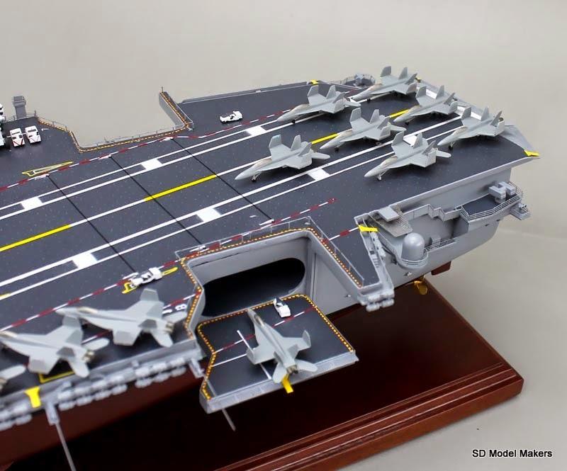 36 Uss George H W Bush Cvn 77 Aircraft Carrier Model Sd Model