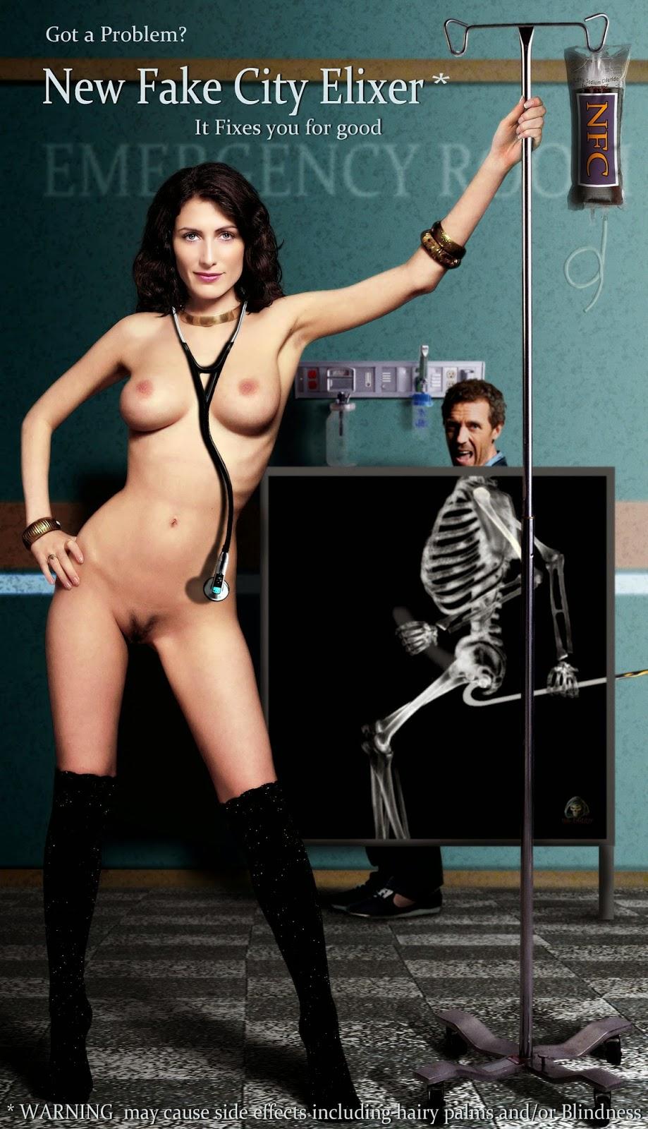 Nackt Bilder : Lisa Edelstein as Dr. Cuddy Naked Pics   nackter arsch.com
