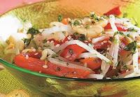 Salada de Broto de Feijão com Pimentão (vegana)
