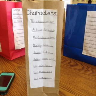 paper bag character book report This is a fun freebie students do the written portion of the book report on the outside of a large grocery bag, and then place five items inside the bag to symbolize.