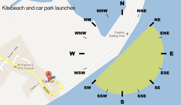 Wind directions for sailing at Calshot