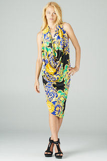 Paisley Drape Dress