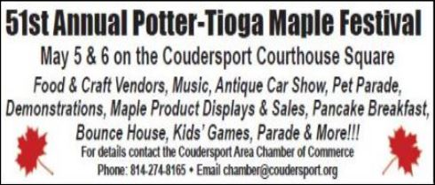 5-5/6 Potter-Tioga Maple Festival, Coudersport, PA