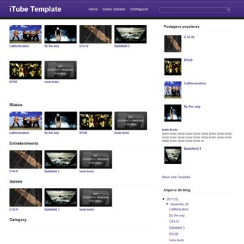 iTube Template blogger template. download video blogger template. free blogspot template video