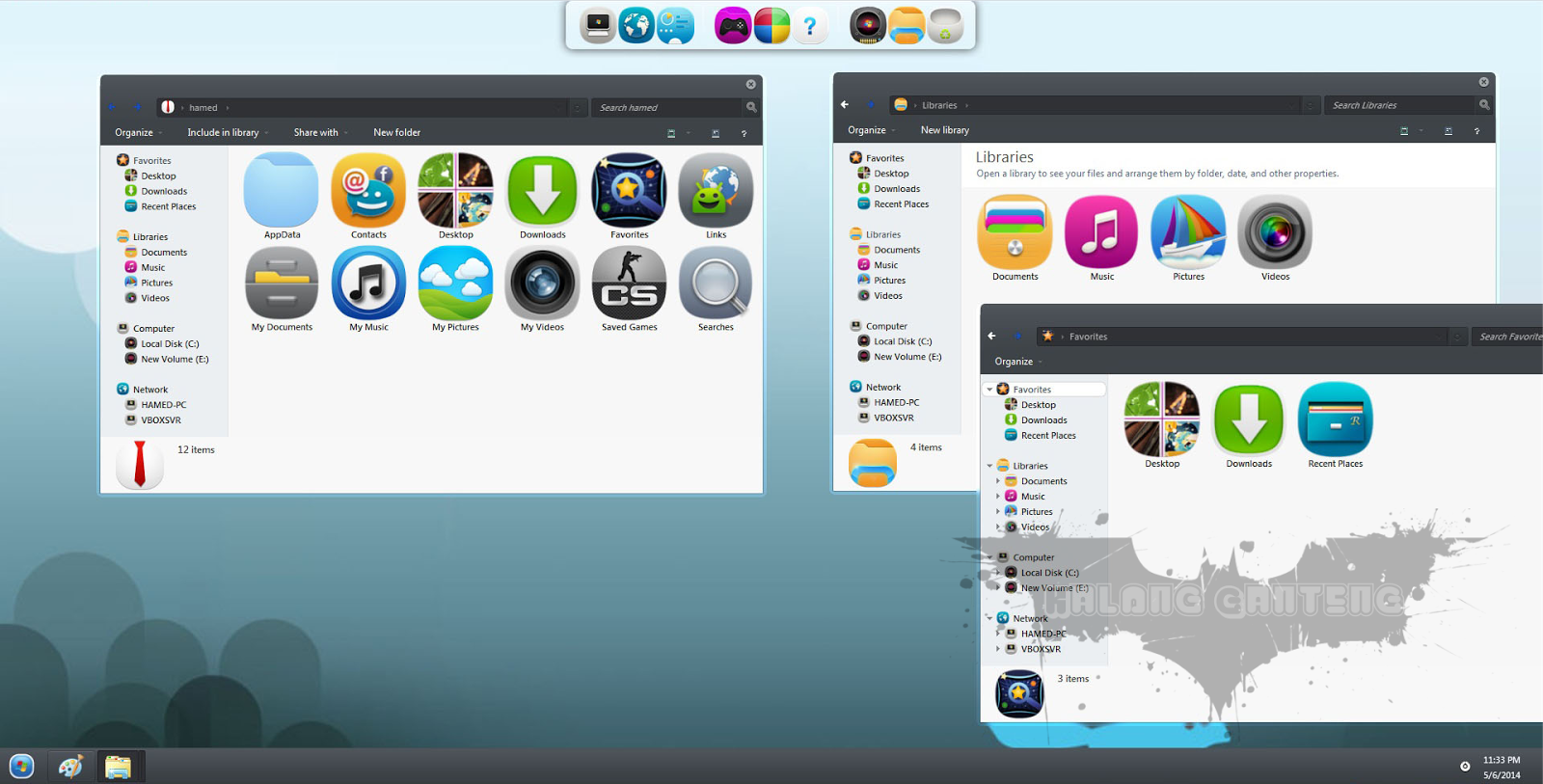 MeeGo Skin Pack for win 7 Screenshot