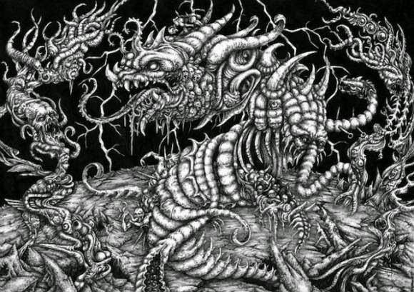 Karya Senirupa Debronzes Mystical Drawing