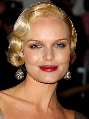 Heavenly Vintage Wedding Blog, hair to complement a 1930s wedding dress - Katherine Heigl