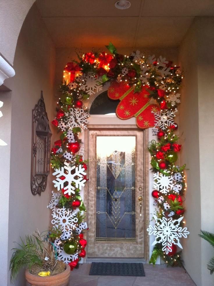 Como decorar puertas en navidad parte 2 for Como decorar una puerta en navidad