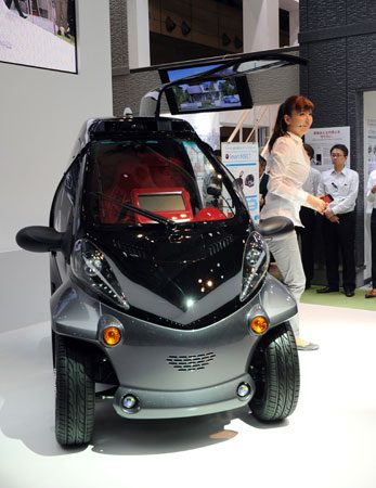 Toyota Launched The Smart Insect Ev Concept Report At Ceatec An 2017 Small City Electric Can Carry Only One Person And Has Doors That