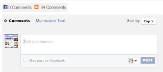 Tab Komentar Facebook & Blogger