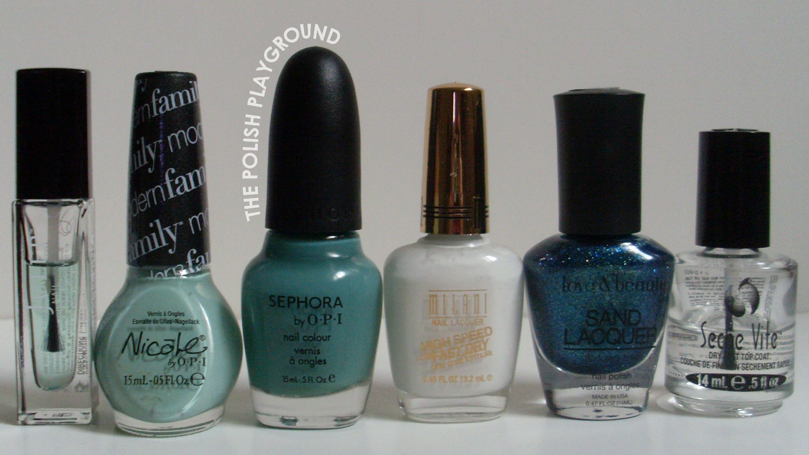 Julep, Nicole by OPI, Sephora by OPI, Milani, Love & Beauty, Seche Vite