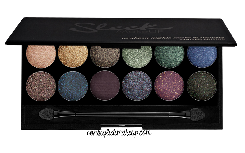 recensione sleek arabian night swatches