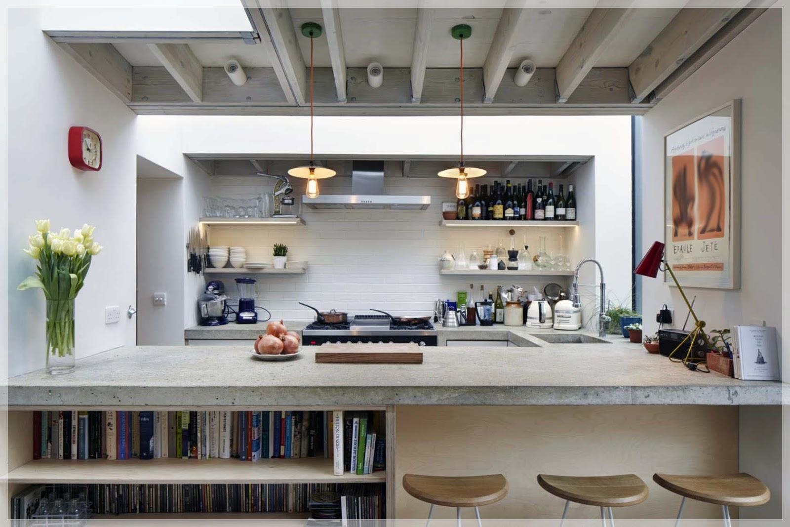 20 Slanke kjøkken design med en vakker enkelhet - interiør inspirasjon